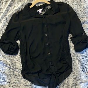Candie's button down sheer top
